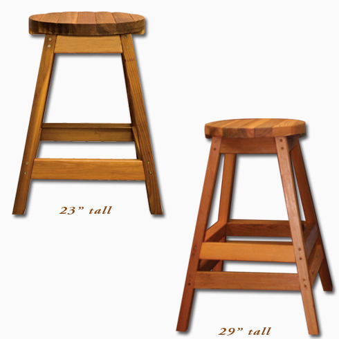 Cedar Wood Bar Stools